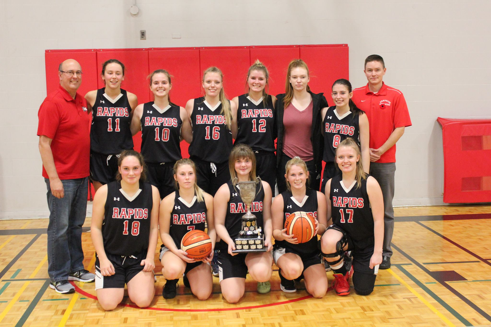 The ADHS Senior Girls basketball team went undefeated this season